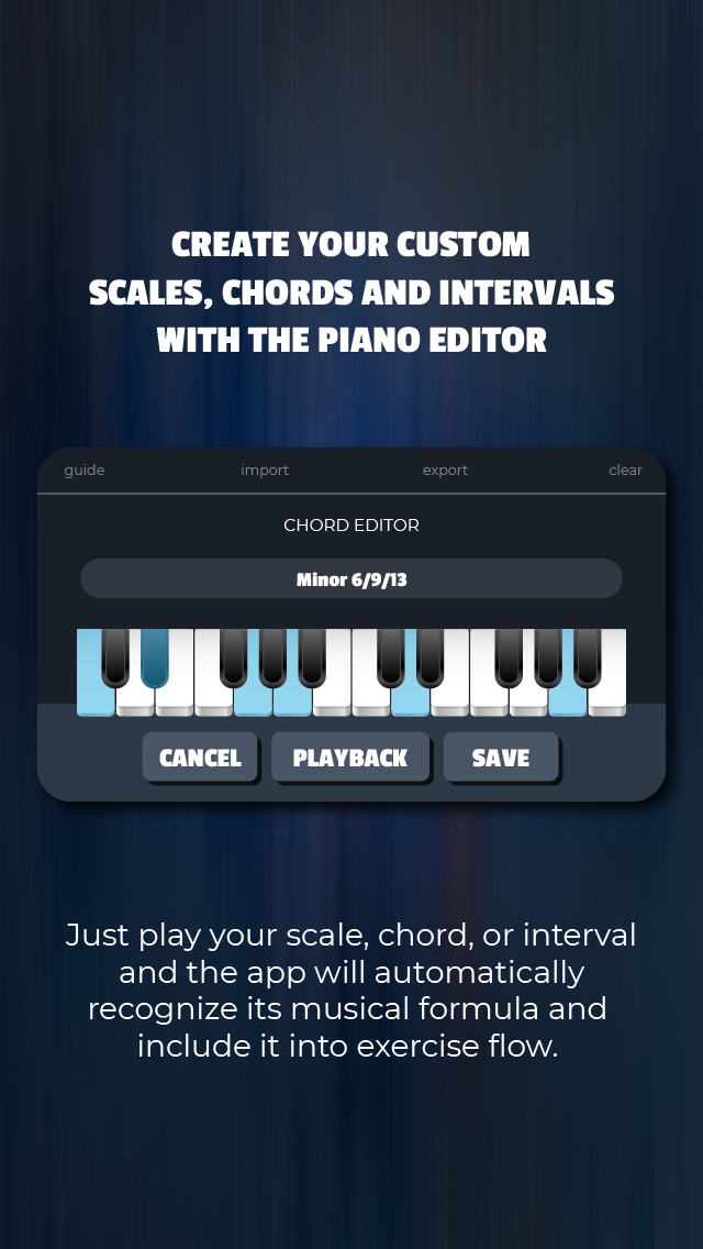 The piano editor feature
